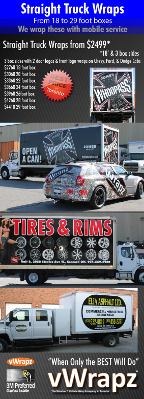 Striaght truck wraps Toronto by vWrapz