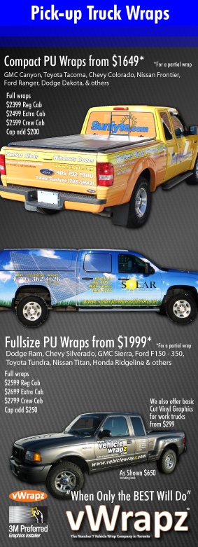 Pick up truck wraps toronto